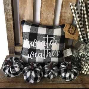 Farmhouse tiered tray Sweater Weather pillow